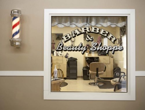 barber and beauty shoppe sign