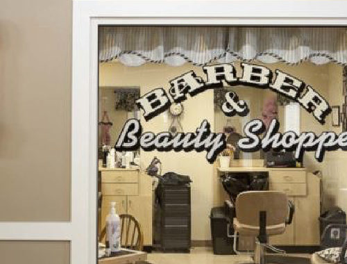 Legacy Pointe Senior Living barber and beauty shoppe